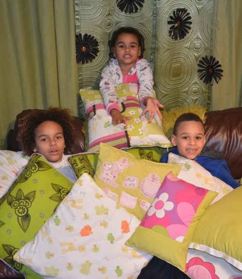 Kids With Cushions